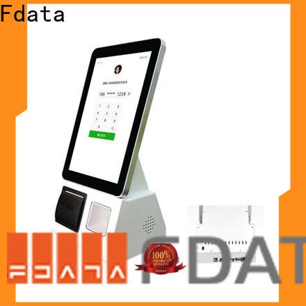 Fdata self service kiosk restaurant factory price for chain shops