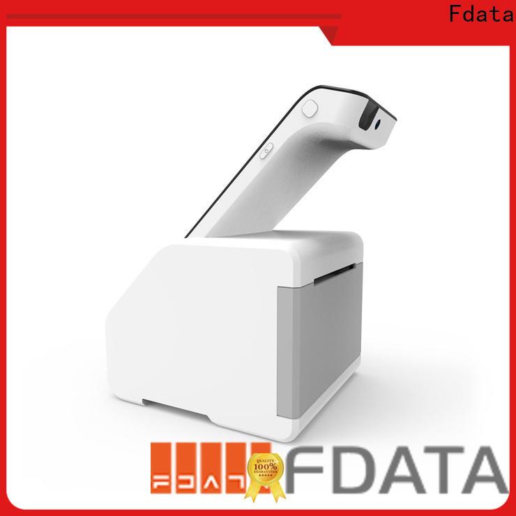 Fdata dual display card reader machine factory with bar code reader