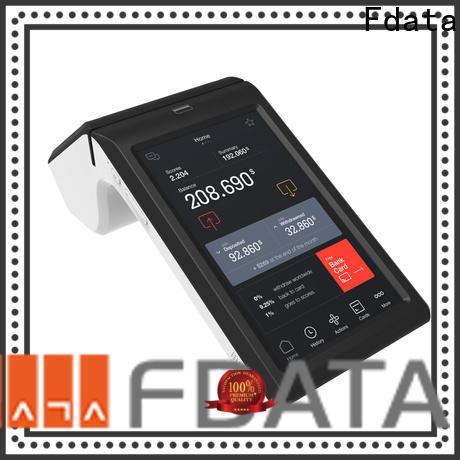 Fdata sturdy pos payment terminal energy-saving with bar code reader