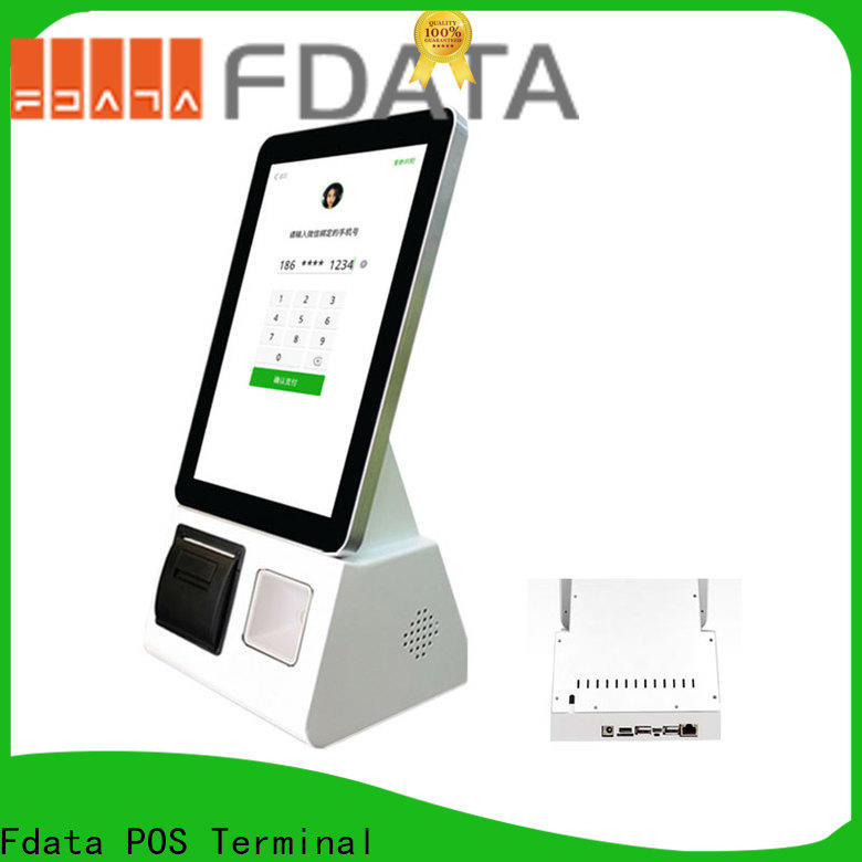 Fdata multi-language smart self service kiosk easy operation at discount