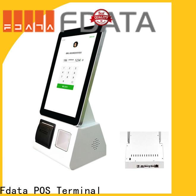 Fdata barcode scanner kiosk easy-installation for bank